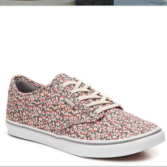 hinta alennettu myymälä bestsellereitä hieno tyyli Vans atwood low pink grey floral Boutique